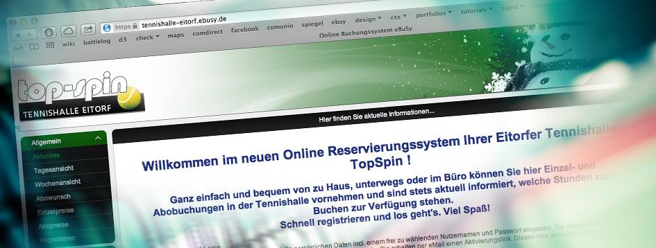 Online Buchungssystem TopSpin Eitorf